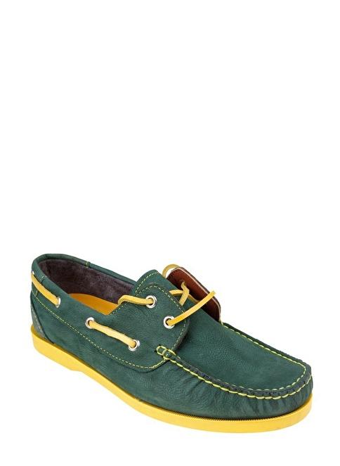 Wolfland Hakiki Deri Ayakkabı Yeşil